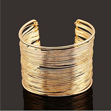 Bilezikler Kadın's Kol Düğmesi Altın / Gümüş / alaşım Taşsız