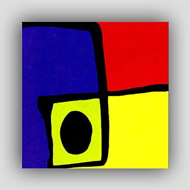 Kézzel festett Absztrakt Négyzet, Modern Realizmus STÍLUS Vászon Hang festett olajfestmény lakberendezési Egy elem