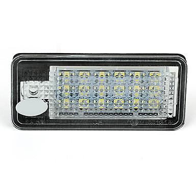 2 valkoinen 18 johti 3528 SMD rekisterikilven valot lamput Lamput Audi A3 8P a6 4f