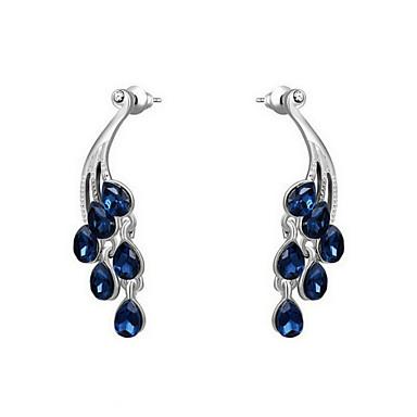 Drop Earrings Women's Alloy Earring Cubic Zirconia Elegant Style