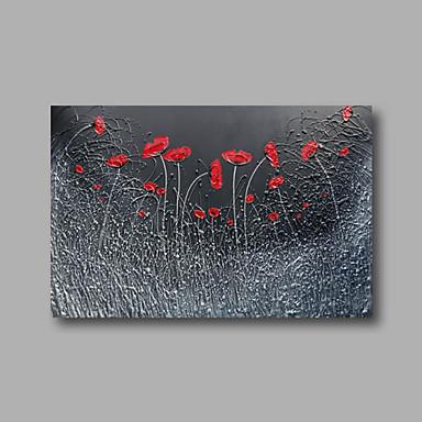 El-Boyalı Çiçek/BotanikModern Tek Panelli Kanvas Hang-Boyalı Yağlıboya Resim For Ev dekorasyonu