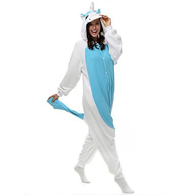 Kigurumi Pajamas Unicorn Onesie Pajamas Costume Polar Fleece Cosplay For Adults' Animal Sleepwear Cartoon Halloween Festival / Holiday
