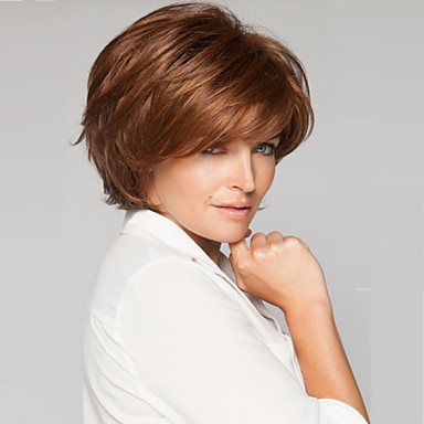 Top Grade Quality Synthetic Brown Color Short Hair Wig