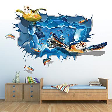 Sarjakuva 3D Wall Tarrat 3D-seinätarrat Koriste-seinätarrat, Vinyyli Kodinsisustus Seinätarra Seinä