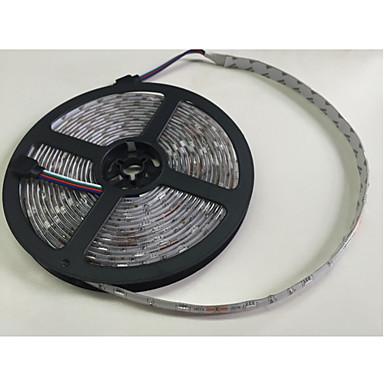 5 m RGB szalagfények 300 LED 5050 SMD RGB Távirányító / Cuttable / Tompítható 100-240 V / Összekapcsolható / Gépjárműbe / Öntapadós / Színváltós / IP44