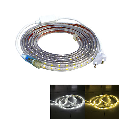 Strømforsyning 240 LED Varm hvit Hvit Vanntett Passer for kjøretøy 220V