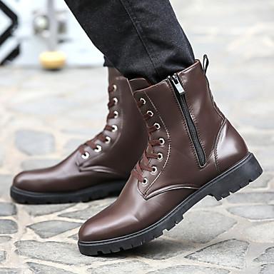 Férfi Kényelmes Újdonság Görkorcsolya cipők Cowboy / Western csizmák Bőr Tavasz Ősz Tél Sport Hétköznapi Party és Estélyi Csat Fűző Lapos