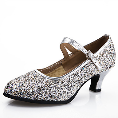 Women's Dance Shoes Modern Synthetic Heel Black / Blue / Pink / Silver / Gold Customizable