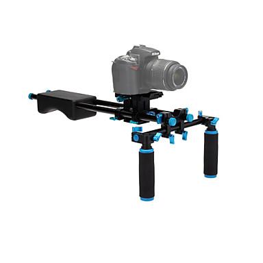 yelangu® indbygget vaterpas aluminiumslegering, gummi dslr skulder rigge video stabilisator til DSLR kameraer