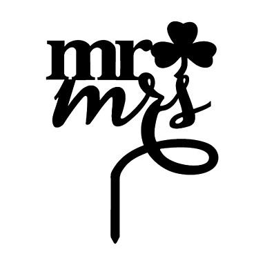 Cake Topper Classic Theme Monogram Acrylic Wedding Anniversary Birthday Bridal Shower Quinceañera & Sweet Sixteen with 1 OPP