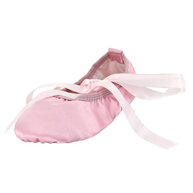 Ballet Heel Shoes Silk Flat Flat Heel Ballet Non Customizable Dance Shoes Camel / Red / Pink / Indoor 3a7c2b