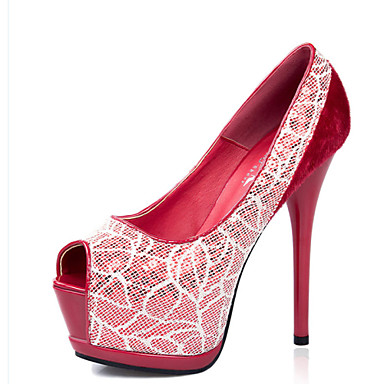 נעלי נשים-בלרינה\עקבים-פליז-עקבים-שחור / בורגונדי-קז'ואל-עקב סטילטו