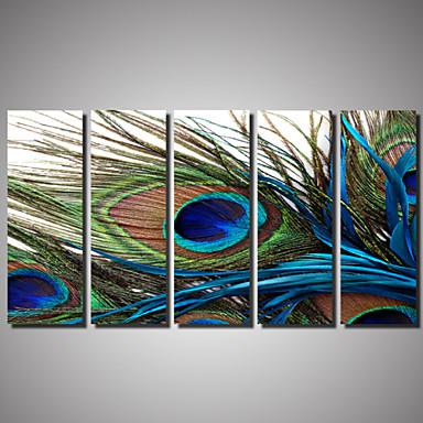Rolled Canvas Prints Landscape Animals Romance Photographic Five Panels Horizontal Wall Decor Home Decoration