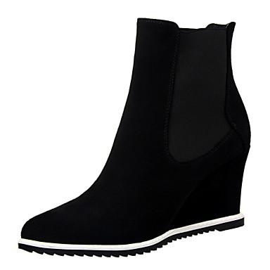 f6db56209 Calçados Femininos - Botas - Anabela / Botas Cano Curto / Bico Fino / Bico  Fechado