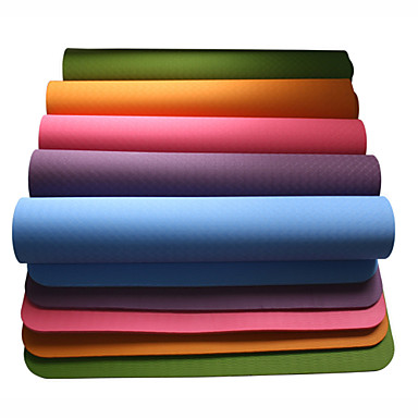 Yoga Mat Odor Free, Eco-friendly, Sticky TPE Waterproof, Quick Dry, Non-slip For Yoga / Pilates Green, Blue, Burgundy