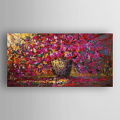 Oil Painting Flowers by Knife Hand Painted Canvas with Stretched Framed