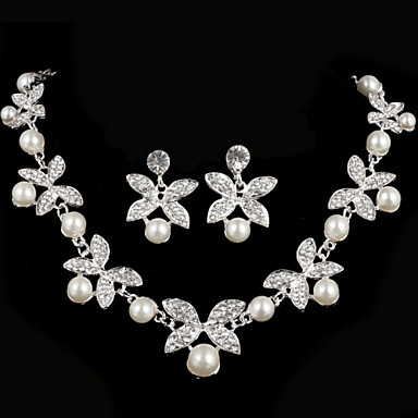 Women's Rhinestone Jewelry Set - Others Silver