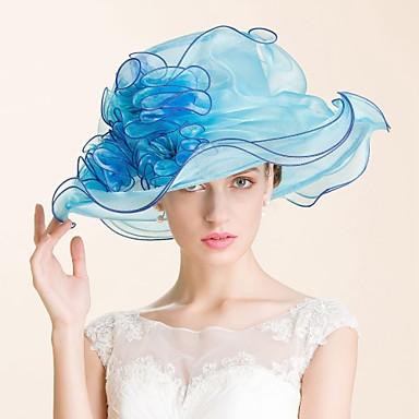 voordelige Hoeden-Edelsteen & Kristal / Organza Kentucky Derby Hat / hatut / Helm met Kristal 1 Bruiloft / Speciale gelegenheden  / Feest / Uitgaan Helm