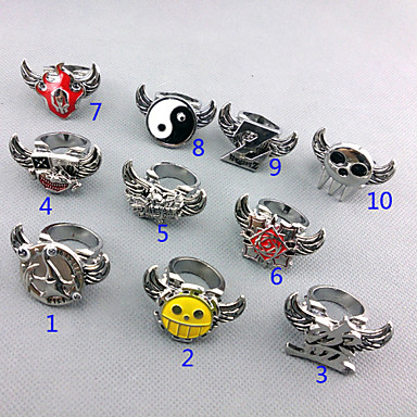 Jewelry Inspired by One Piece Trafalgar Law Anime Cosplay Accessories Ring Alloy Men's New / Hot