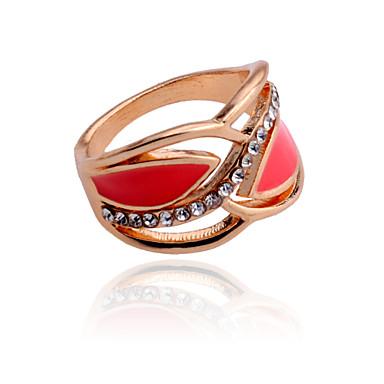Anéis Pesta / Diário / Casual Jóias Cristal / Prata Chapeada / Chapeado Dourado Feminino Anéis Statement 1pç,7
