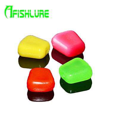 60pcs/lot db Puha csali / Műcsali csomag Rózsaszín / Piros / Sárga vándor alóza / üveg zöld 0.32 g/<1/18 Uncia,10 mm/4