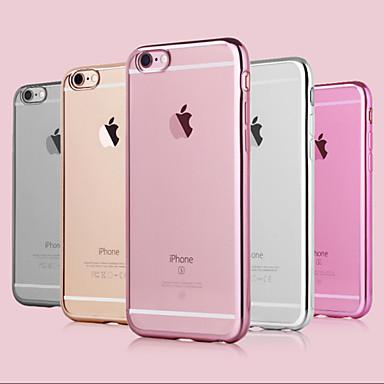 Pouzdro Uyumluluk Apple iPhone 6 iPhone 6 Plus Kaplama Arka Kapak Tek Renk Yumuşak TPU için iPhone 6s Plus iPhone 6s iPhone 6 Plus iPhone
