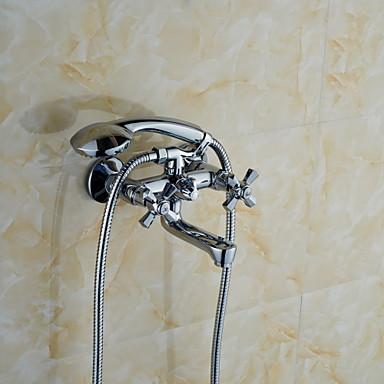 샤워 수전 - 모던 황동 (크롬)