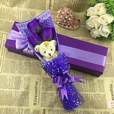 simülasyon çiçek yenilik doğum günü hediyesi ayı sabun çiçek yükseldi