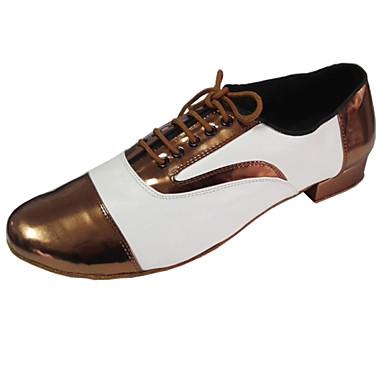 Bărbați / Pentru femei Swing Piele / Piele Originală / Imitație de Piele Călcâi Toc Jos Personalizabili Pantofi de dans Bronz / Roșu / Interior / Performanță / Antrenament / Profesional