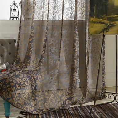 Dois Painéis Tratamento janela Rústico Quarto Poliéster Material Cortinas cortinas Decoração para casa For Janela