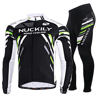 Nuckily Men s Women s Long Sleeve Cycling Jersey with Tights - Black Plus  Size Bike Jersey Clothing 9d4bab6f6