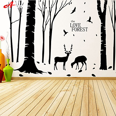 Decorative Wall Stickers - Plane Wall Stickers Landscape / Animals Living Room / Bedroom / Bathroom