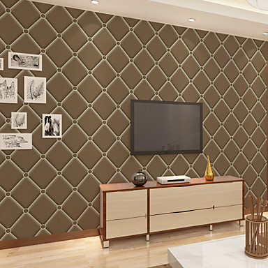 Geometrisk Hjem Dekor Moderne Tapetsering, Ikke vævet papir Materiale selvklebende nødvendig bakgrunns, Tapet