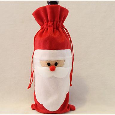 Santa Claus şarap çanta baba yılbaşı hediye çantası yılbaşı süsleri 1pcs