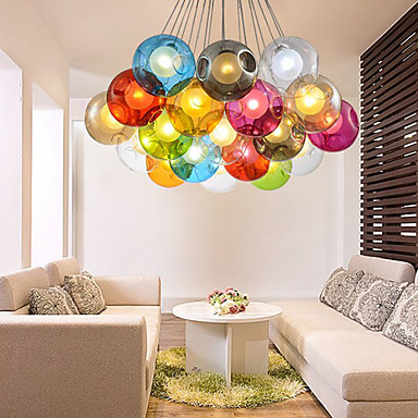 G4 220V 12CM Creative The Nordic Color Restoring Ancient Ways Goldfish Bowl Glass Creative Droplight Lamp Led Light