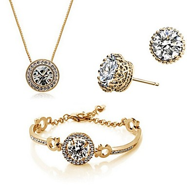 Women's Alloy Party Work Casual Party Birthday Engagement Gift Bracelet Earrings Necklaces Costume Jewelry