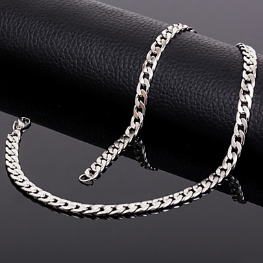 Men's Women's Chain Necklace Titanium Steel Chain Necklace , Wedding Party Daily Casual