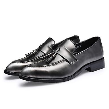 Alkalmi Férfi cipő Bőrutánzat Félcipők Fekete / Sárga / Piros / Ezüst