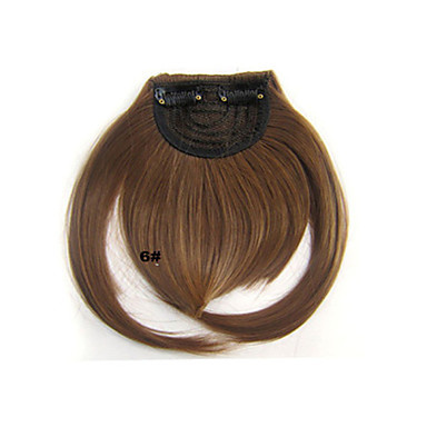 Synthetic Hair Extension Classic Straight Clip In Classic Straight Daily High Quality