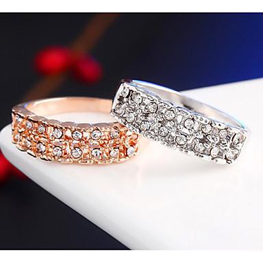 Homens Cristal Anéis de Casal - Liga Estilo simples, Fashion 6 / 7 / 8 Prata / Dourado Para Casamento / Festa / Diário / Casual