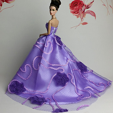 Party/Evening Dresses For Barbie Doll Lace Organza Dress For Girl's Doll Toy