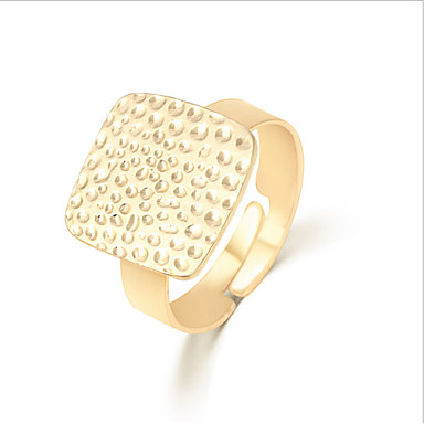 Women's Statement Rings Personalized Open European Fashion Adjustable Alloy Square Geometric Jewelry Party Daily Casual
