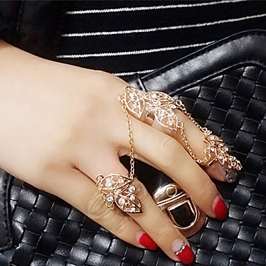 Midi Rings Simulated Diamond Alloy Fashion Silver Golden Jewelry Wedding Party Daily Casual 1pc