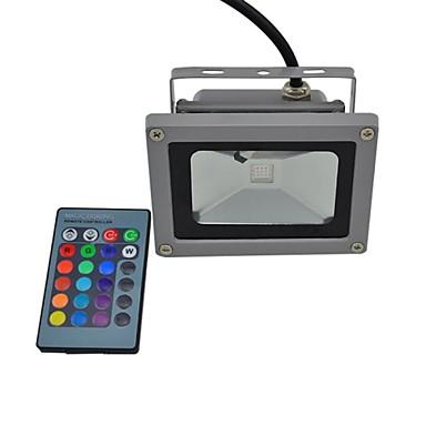 billige Utendørsbelysning-LED-lyskastere 440 lm 1 LED perler Integrert LED Vanntett Fjernstyrt RGB 85-265 V