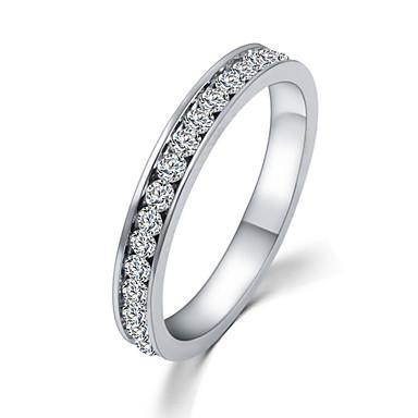 billige Motering-Dame Statement Ring Kubisk Zirkonium / liten diamant Sølv Zirkonium / Strass / Legering damer / Luksus / Enkel Stil Bryllup / Fest / Daglig Kostyme smykker
