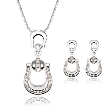 Kubikzirkonia Zirkon Kubikzirkonia Aleación Silber 1 Paar Ohrringe Halsketten Für Hochzeit Party Alltag Normal 1 Set Hochzeitsgeschenke