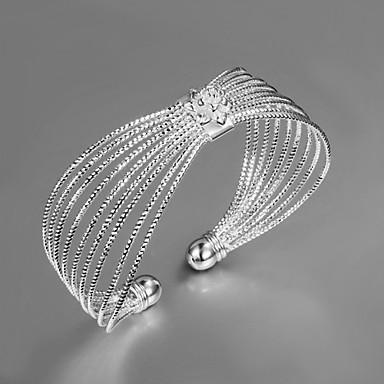 billige Motearmbånd-Dame Armringer Unikt design Mote Sølv Armbånd Smykker Gull / Sølv Til Bryllup Fest Daglig Avslappet
