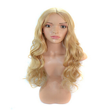 Synthetic Wig Wavy Blonde Women's Capless Carnival Wig Halloween Wig Long Synthetic Hair