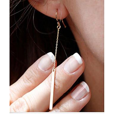 voordelige Dames Sieraden-Dames Druppel oorbellen Bar Goedkoop Dames Eenvoudig Eenvoudige Stijl Modieus Elegant Verguld oorbellen Sieraden Zilver / Gouden Voor Feest Dagelijks Causaal