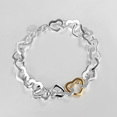 Women's Sterling Silver Chain Bracelet - Fashion LOVE Silver Bracelet For Christmas Gifts Wedding Party